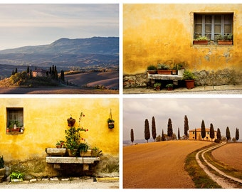 Set of 10 fine art postcards/prints of Italy