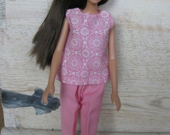 Handmade Casual Outfit for Barbie - Pink