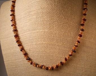 Garnet Necklace Hawaiian Kahelelani Shell Jewelry Kauai Shells Garnet Stone Sea Shell Hawaii Jewelry January Birthstone