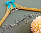 Custom Wedding Hanger with Date Charm, Wedding Date Hanger, Wedding Gift, Dress Hanger