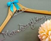 Custom Wedding Hanger with Date Charm, Wedding Date Hanger, Wedding Gift, Dress Hanger