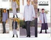 UNCUT Vogue Wardrobe Pattern 2381 Misses/Misses Petite Jacket, Dress, Top, Skirt & Pants 12-16