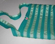 Turquoise Zipper Purse