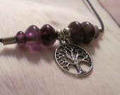Tree of Life Surfer Style Necklace with Amethyst