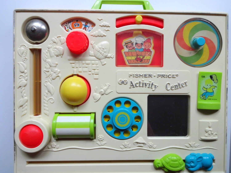 Fisher Price Crib Toys : Vintage fisher price activity center crib playpen toy