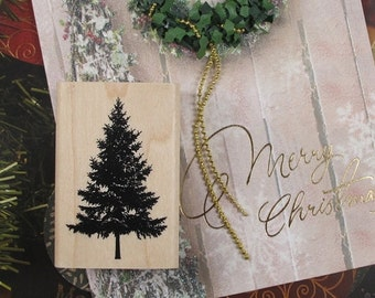 Evergreen Rubber Stamp