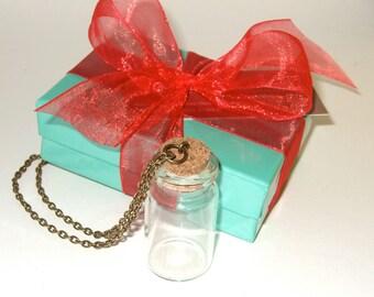 DIY Vial Pendant, Make a Bottle, Fill Your Own, Bottle Necklace, Bottle Craft Kit, DIY Bottle Jewelry, Bottle Project Kit, Glass Bottle Kit