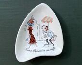 Vintage French Petite Ceramic Dish