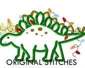 Reindeer Stegosaurus Christmas Applique and Embroidery Digital Design File  5x7 6x10