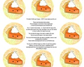 Thanksgiving Pumpkin Pie bottle cap image collage sheet, great for jewelry making, paper crafts and general