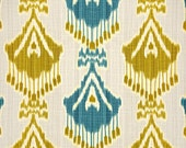 Two 26 x 26  Custom Designer Decorative Pillow Covers - Ikat - Turquoise or Grey
