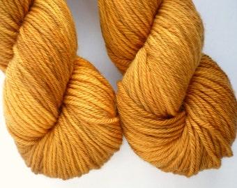 Worsted Yarn - Hand Dyed Superwash Merino Wool in Toffee Colorway
