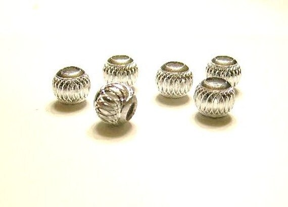 15 Silver Beads 12mm  Silver Carving - Charm Bracelet ADD ON