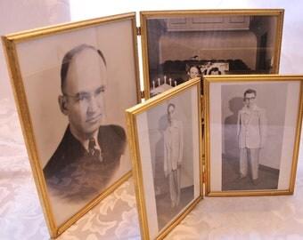 Bright Gold Finish Folding Picture Frames Instant Ancestors