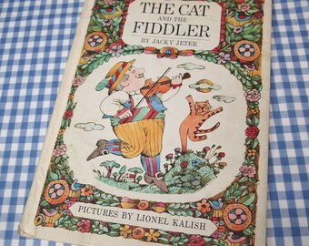 the cat and the fiddler, vintage 1968 children's book