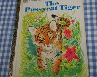 the pussycat tiger, vintage 1977 children's little golden book