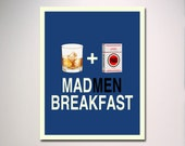 MADMEN BREAKFAST Poster Print / Minimalist Design / Digital Creation