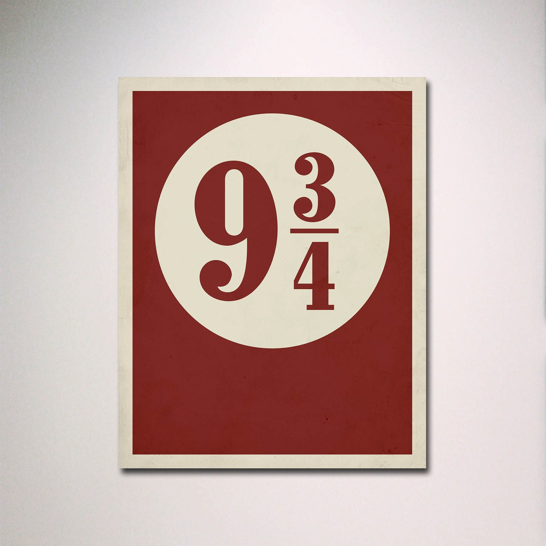 Harry Potter Minimalist Poster // Platform 9 3/4 With