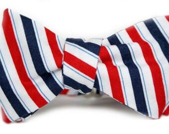 Patriotic Stripe Men's Bow Tie