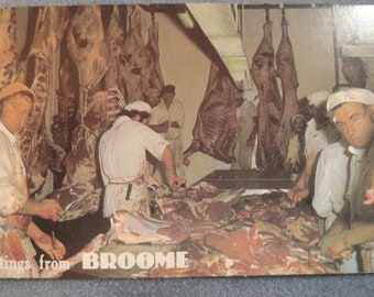 Greetings From BROOME- Vintage Post Card