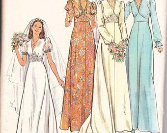 1970's Butterick pattern 3774 misses bridal gowns size 8