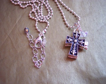 Cross Prayer Box Necklace or Bracelet