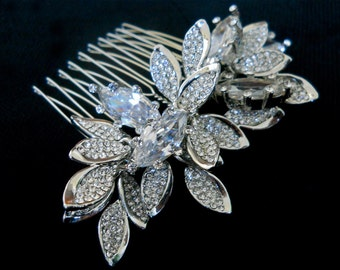 Swarovski crystal hair comb, Bridal crystal hair comb, Rhinestone hair comb, Wedding hair comb