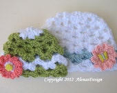 Crochet Pattern 056 - Crochet Hat Pattern - Hat Crochet Pattern for Butterfly Baby Beanie - Crochet Baby Pattern - Baby Girl - Lace Hat
