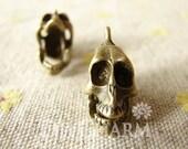 Antique Bronze Movable 3D Skeleton Charms 20x18mm - 5Pcs - DC25351