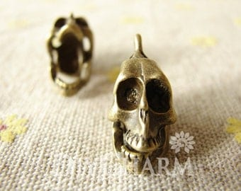 Antique Bronze Movable 3D Skeleton Charms 20x18mm - 5Pcs - DC25351