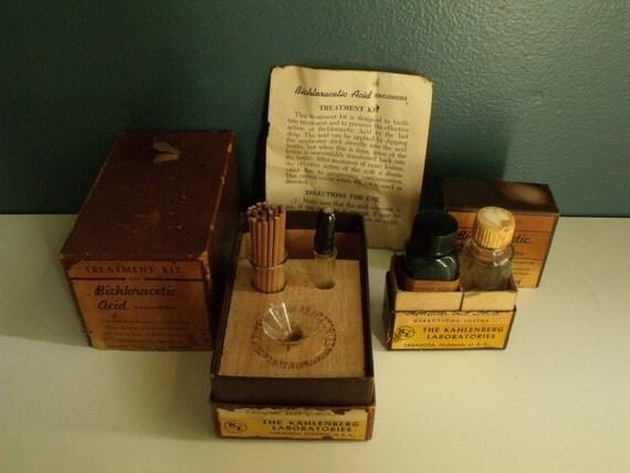 Reserved Bichloracetic Acid Treatment Kit Vintage Medicine