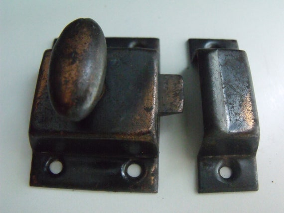 Vintage Cabinet Or Door Latch Antique Copper Spring Loaded - Antique Latches For Cabinets MF Cabinets