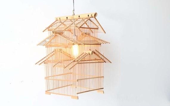 r e s e r v e d Large Bamboo Hanging Birdcage Lantern