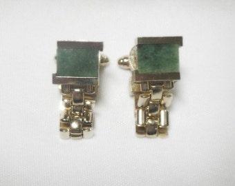 Jade Cuff Links - Dante - Vintage
