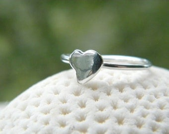 Sterling Silver Heart Ring MADE TO ORDER All sizes handcrafted