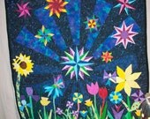 Midnight Garden - an Art Quilt