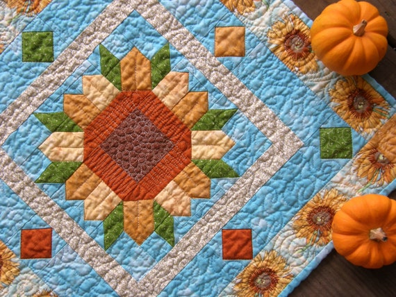 Quilted Table Topper - Sunflower