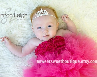 Sweet Princess Halloween Costume Baby Halloween Costume With Matching Tiara Headband Stunning Newborn Photo Prop  Many Colors Available