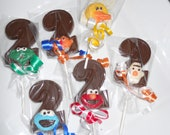 hanselcabrera Oct 22th 22 Abby Elmo Cookie Big Bird HEADS on 2nd Birthday Gourmet Chocolate Lollipops Birthday Gifts Party Favor Kids