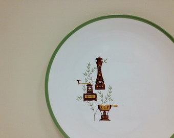 Homer Laughlin Homespun Chop Plate Coupe