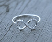 Infinity ring Sterling silver stacking LOVE