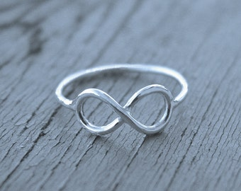 Infinity ring, stacking ring, LOVE ring, infinity jewelry, eternity ring, always and forever, figure eight ring, petite ring, eternal love