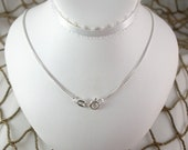 Sterling Silver Box chain for Captains' Wife Seaglass Jewelry