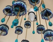 Jellyfish  Lamp shade  Ceiling Mobile LampShade  in the colors of the Ocean