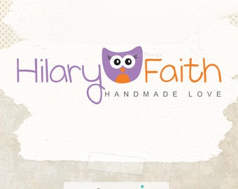 Lovely owl logo design premade ooak logo for photographers boutique logo business branding and watermark