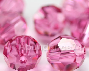 Swarovski Elements Crystal Beads 5000 Round Ball Beads ROSE - Available in 5mm and 7mm