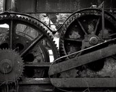 Old gears and machinery black and white film photography - Old Rust