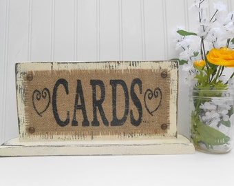 Card table wedding sign, guest book area at reception, 7x14 standing