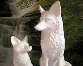 Large Beautiful, Realist Fox, Fox Kit, Fox Cub, Detailed Fox, Garden ornament, yard, Statue, Wildlife,ready to paint,ceramic bisque,u-paint