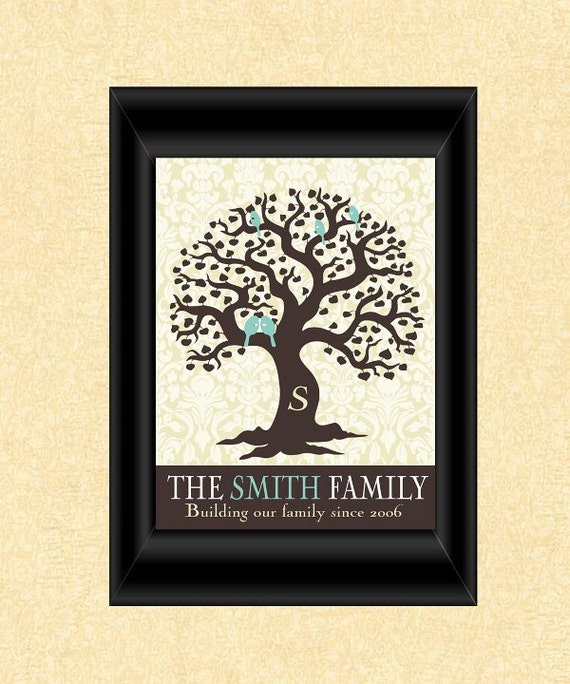 Items similar to personalized holiday gift family tree for Family tree gifts personalized
